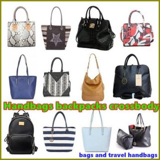 Handbags backpacks crossbody bags and travel handbags