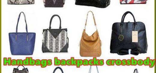 Handbags backpacks crossbody bags and travel handbags
