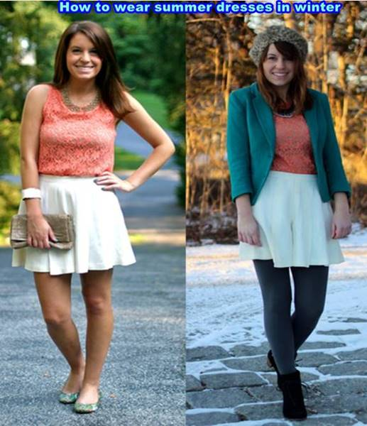 How to wear summer dresses in winter