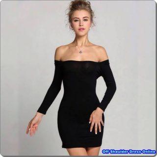 The Black Off the Shoulder Dress Online