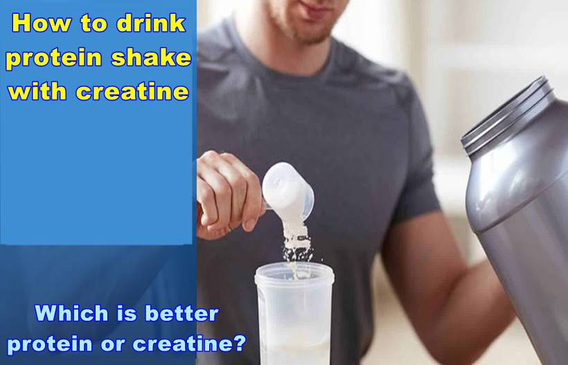 How to drink protein shake with creatine